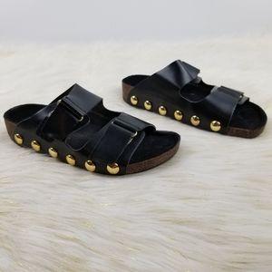 Sam & Libby size 5 studded slides sandals